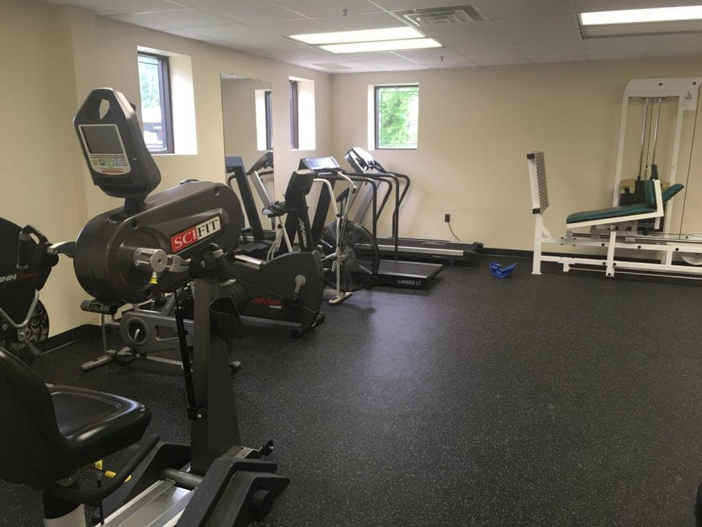 This is an image of the treadmills in our physical therapy clinic at our West Caldwell, New Jersey location.