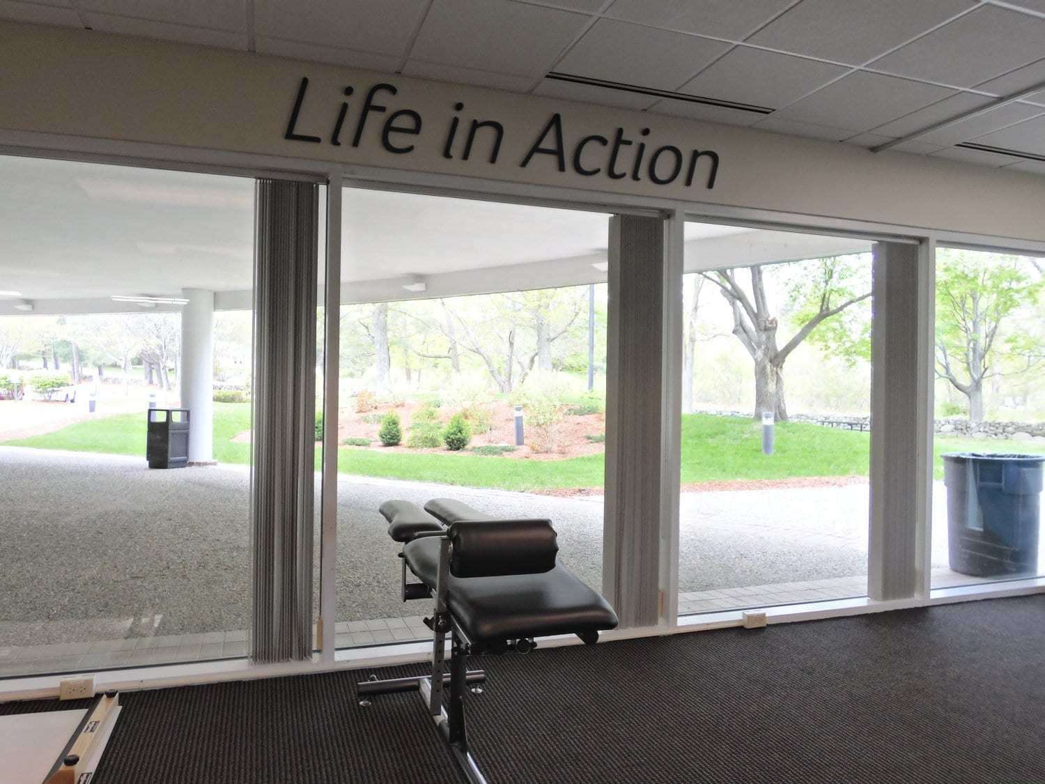 This is an image of our bright training room at our physical therapy clinic in Andover, Massachusetts.