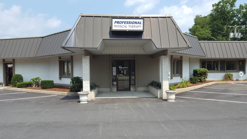 An image of the entrance to our physical therapy clinic in Marshfield, Massachusetts.