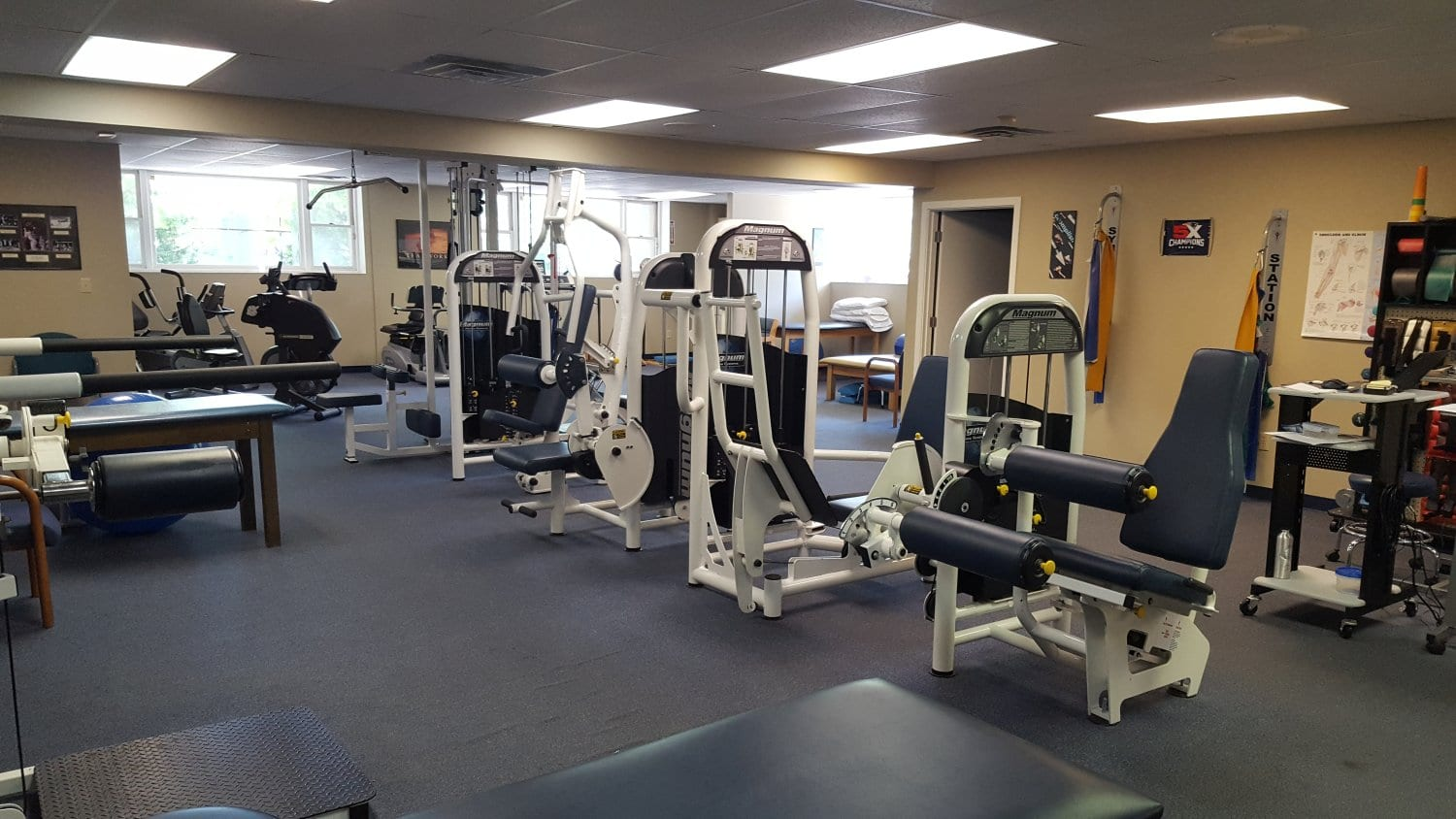 An image of the various equipment and machines used for physical therapy at our clinic in Marshfield, Massachusetts.