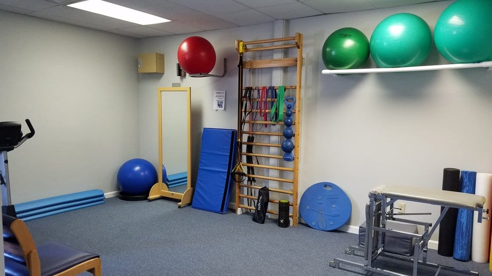 An image of our clean, well-maintained training room at our physical therapy clinic in Middleboro, Massachusetts.