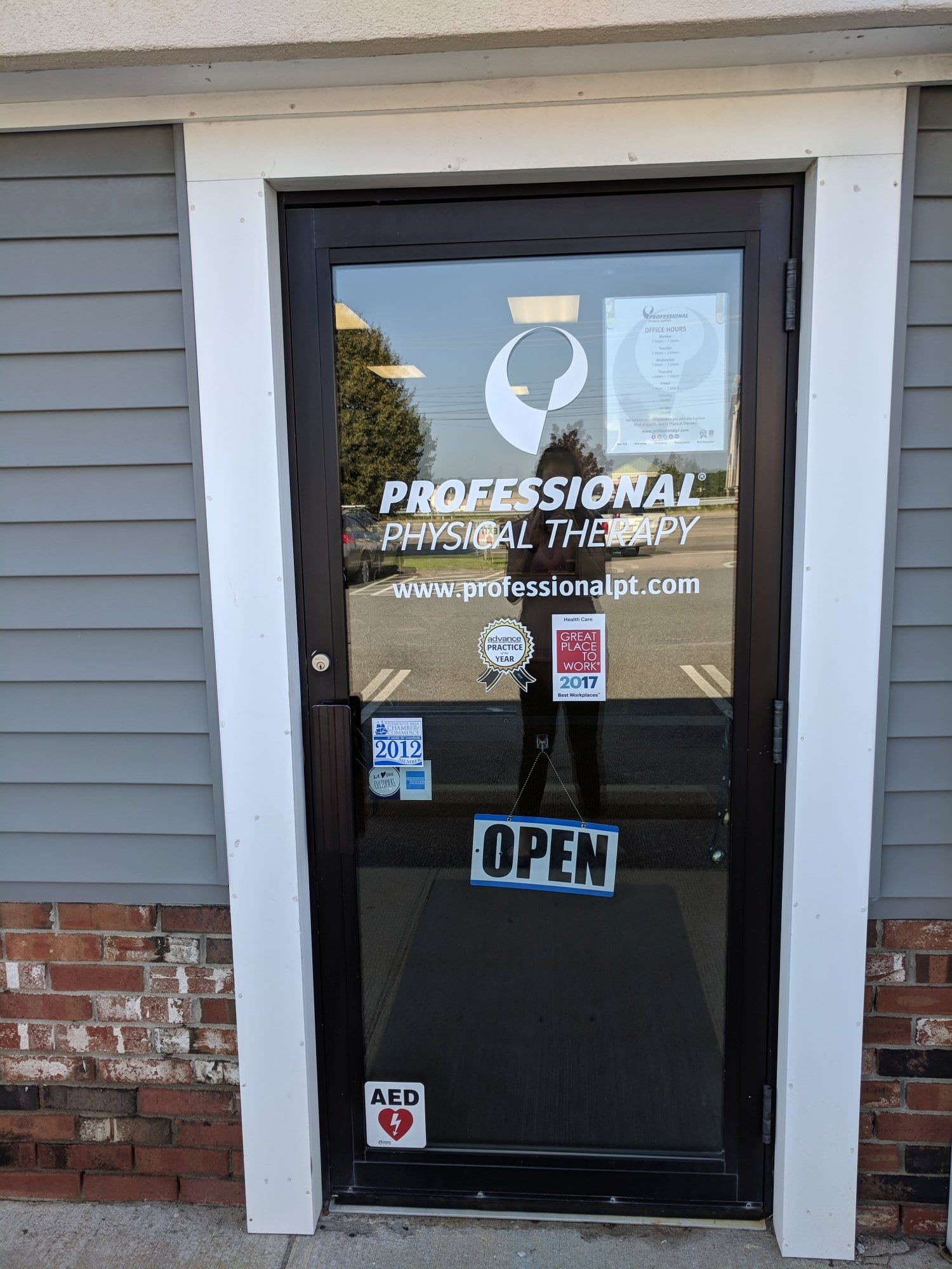 An image of the front door to our Plymouth, Massachusetts physical therapy clinic.
