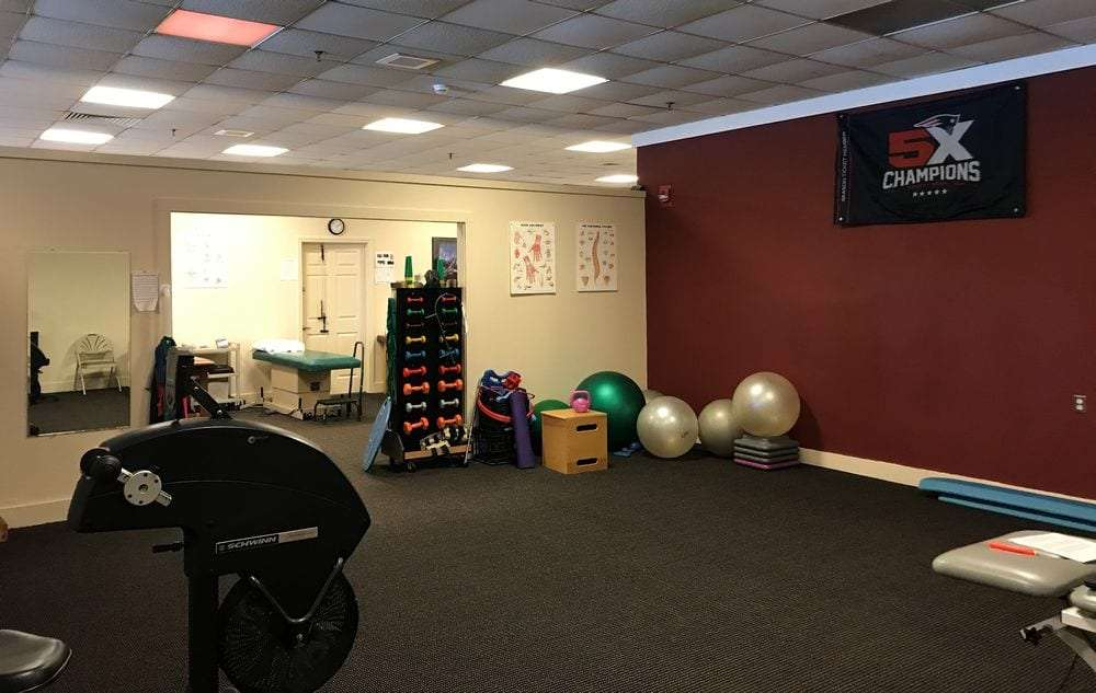Professional physical therapy clinic in Taunton, MA interior room.