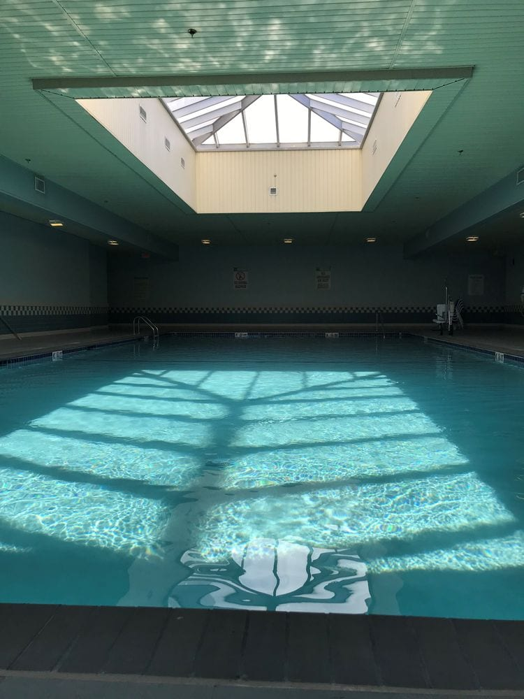 Professional physical therapy clinic in Taunton, MA indoor pool and skylight.