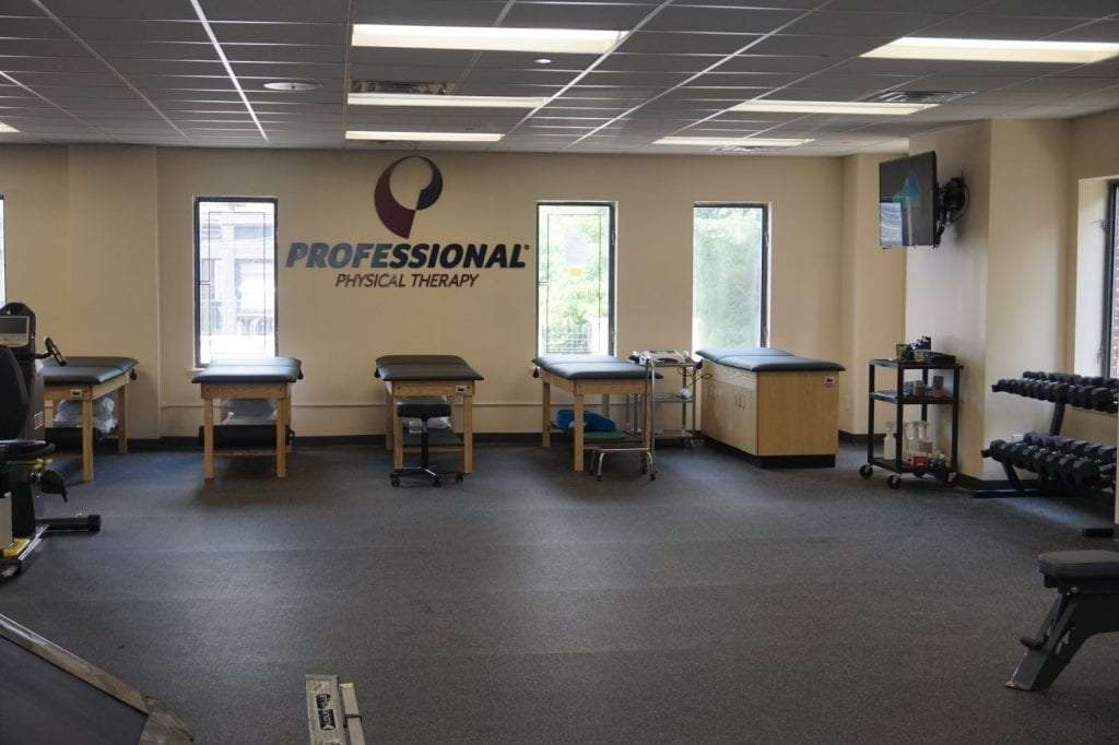 Here is an image of five stretch beds at our physical therapy clinic in Mount Vernon, New York at Fleetwood.