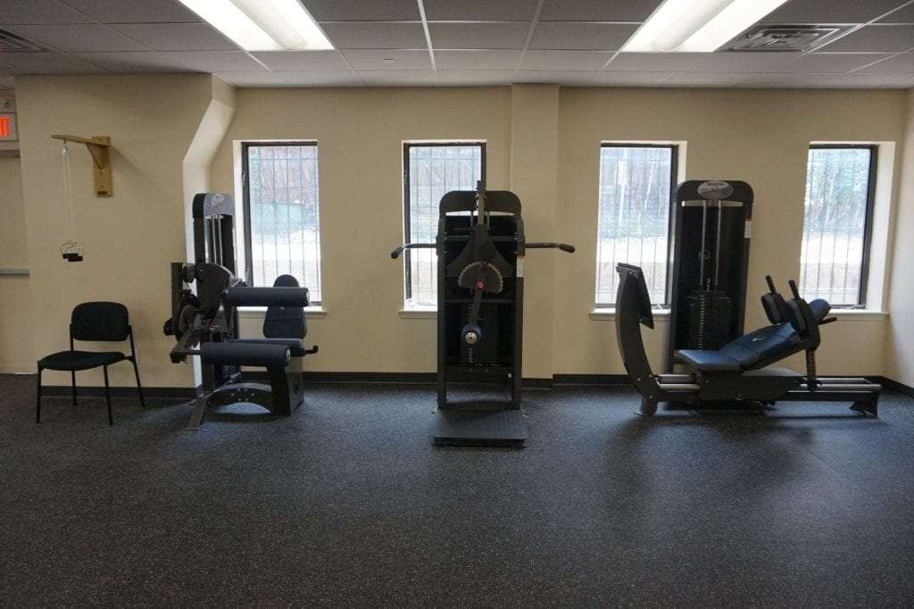 Here is a photo of various strength training equipment at our physical therapy clinic in Mounth Vernon, New York at Fleetwood.