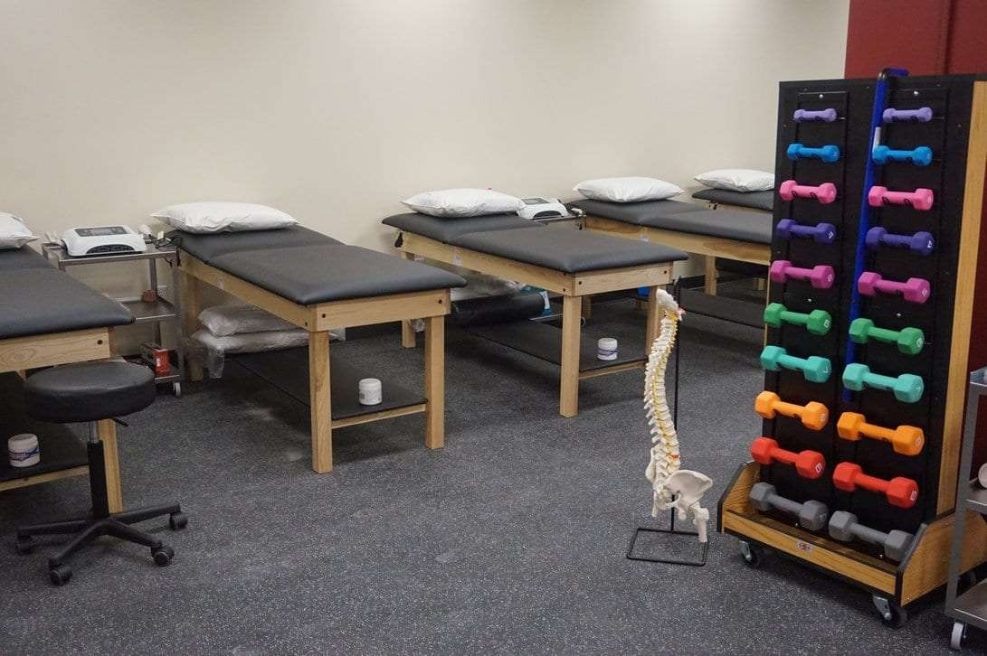beds and weights in our physical therapy clinic at west 98th street in the upper west side manhattan nyc.