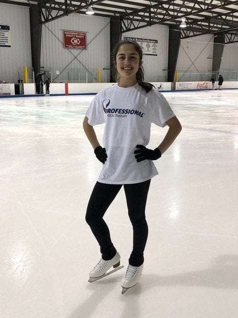 She is back skating and is pain free