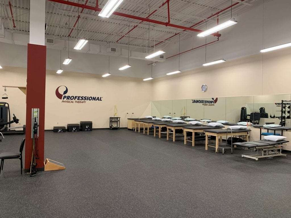 Main rehabilitation room at our Queens Village, NY physical therapy clinic.
